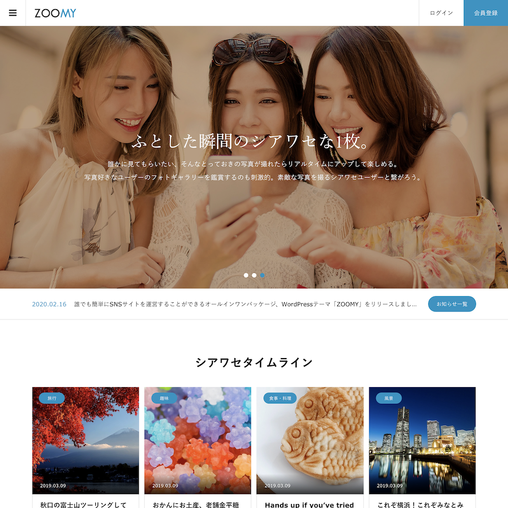 TCD WordPress ZOOMY